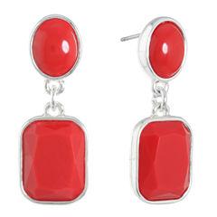 Liz Claiborne Red Drop Earrings