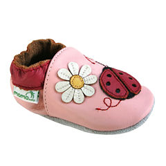 Momo Baby Ladybug Girls Crib Shoes-Baby