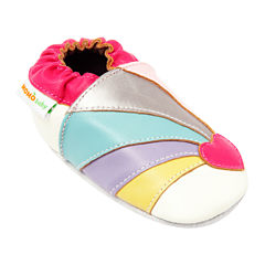 Momo Baby Rainbow Heart Girls Crib Shoes-Baby