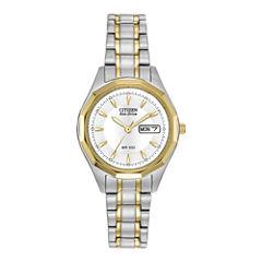 Citizen® Eco-Drive® Womens Two-Tone Watch EW3144-51A