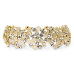 Monet® Gold-Tone & Glass Stretch Bracelet