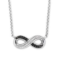 Infinite Promise 1/10 CT. T.W. White & Color-Enhanced Black Diamond Necklace