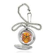 Marvel® Iron Man Mens Silver-Tone Pocket Watch