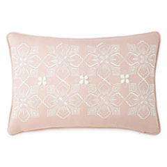 Eva Longoria Home Bethany Embroidered Oblong Decorative Pillow
