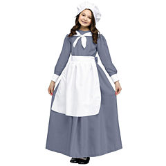 Pilgrim Girl Costume For Kids - L