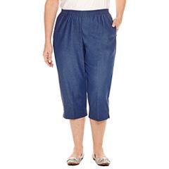 Alfred Dunner Denim Capri Cropped Pants-Plus