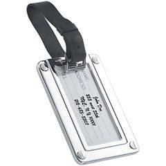 Natico Silver Luggage Tag