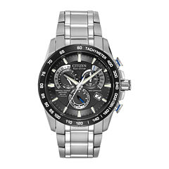 Citizen® Eco-Drive® Perpetual Chrono A-T Mens Titanium Chronograph Watch AT4010-50E