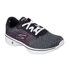 Skechers® Go Walk 4 Lace-Up Womens Sneakers