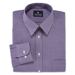 Stafford® Long-Sleeve Travel Performance Fitted Broadcloth Dress Shirt