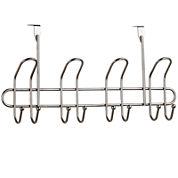 Home Basics 8-Hook Satin Nickel Over-the-Door Hanger