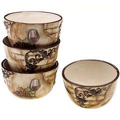 Certified International Tuscan View Set of 4 Ice Cream Bowls