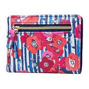 Mundi Mini Bi-Fold Poppy Stripe Wallet
