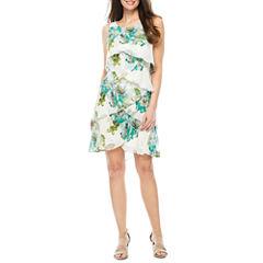 S. L. Fashions Sleeveless Shift Dress