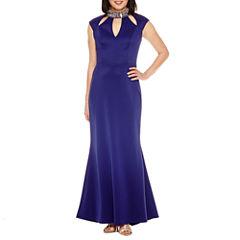 Blu Sage Sleeveless Beaded Evening Gown
