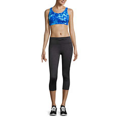 Xersion Medium Support Keyhole Back Sports Bra, Studio Keyhole Tank Top, or Studio Jersey Skirt