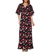 Lily Black Romance Short-Sleeve Maxi Dress