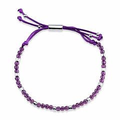 Bridge Jewelry Womens Purple Silver Over Brass Wrap Bracelet