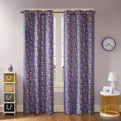 Luna Owl Grommet-Top Curtain Panel