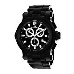 Oceanaut Baccara XL Mens Black Stainless Steel Watch