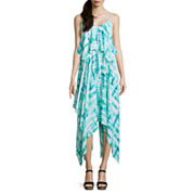 a.n.a® Sleeveless Handkerchief-Hem Maxi Dress