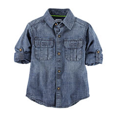 Carter's Short Sleeve Button-Front Shirt Boys