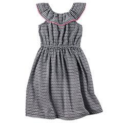 Carter's Sleeveless Geometric A-Line Dress - Toddler Girls