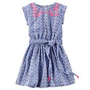 Carter's Short Sleeve Cap Sleeve A-Line Dress - Toddler Girls