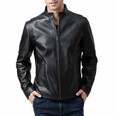 Pebbled Leather Motorcycle Jacket