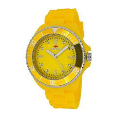 Seapro Sea Bubble Womens Yellow Silicone Strap Watch