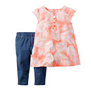 Carter's® 2-pc. Tank Top and Jeggings Set - Baby Girls newborn-24m