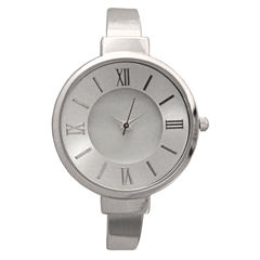 Olivia Pratt Womens Silver Tone Bangle Watch-10029