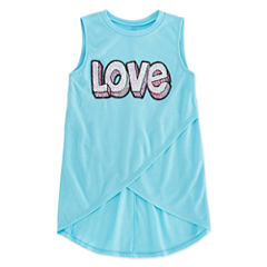 TG Cross Front Sequin Tank - Girls' 7-16 and Plus
