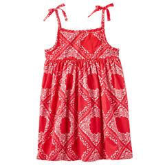 Oshkosh Short Sleeve Babydoll Dress - Toddler Girls