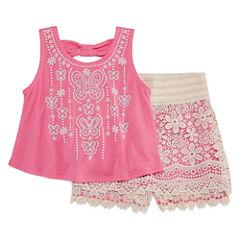 Knit Works 2-pc. Short Set Girls