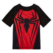 Boys Spiderman Rash Guard-Preschool