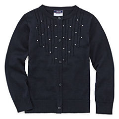 Izod Exclusive Round Neck Long Sleeve Knit Cardigan - Preschool