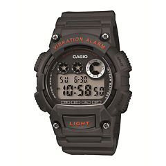 Casio® Mens Gray and Red Digital Sport Watch W735H-8AVOS