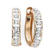 Diamond Fascination™ 14K Rose Gold Hoop Earrings