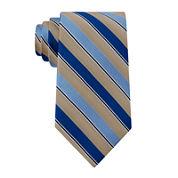 Stafford® Stripe Silk Tie - Extra Long
