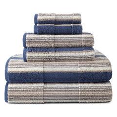 JCPenney Home™ Farmhouse Stripe Bath Towels