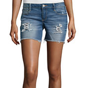 Arizona Midi Raw Cuff Denim Shorts