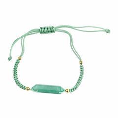 Bridge Jewelry Womens Green Aventurine Stretch Bracelet