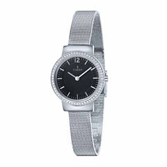 Fjord Mesh Band Womens Silver Tone Expansion Watch-Fj-6034-11
