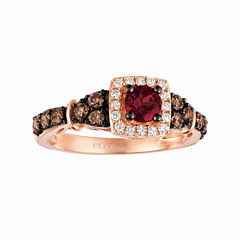 LIMITED QUANTITIES! Levian Corp Le Vian Womens 5/8 CT. T.W. Red Rhodolite 14K Gold Cocktail Ring