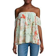 i jeans by Buffalo Flutter Sleeve Off The Shoulder Top