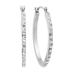 Diamond Fascination™ 14K Gold Oval Hoop Earrings