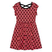 Okie Dokie® Crossback Dress - Preschool Girls 4-6x