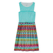Speechless® Sleeveless Chiffon Skater Dress - Girls 7-16