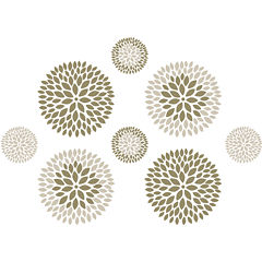 Chrysanthemum 8-pc. Wall Decal Set